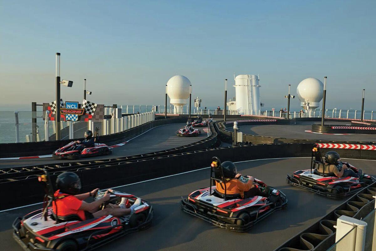 Billion-Dollar Cruise Ship Brings Go-Karts and Laser Tag to