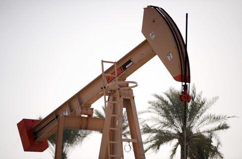 An oil pump is seen operating