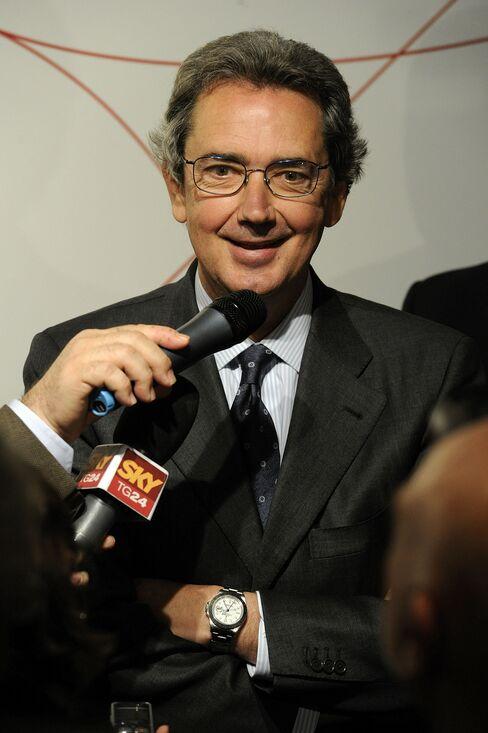 Telecom Italia SpA CEO Franco Bernabe