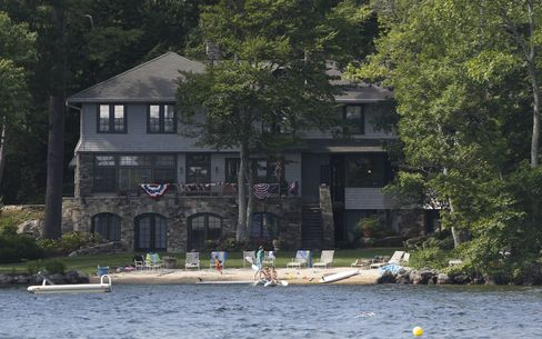 The vacation home of Republican presidential candidate Mitt Romney on Lake Winnipesaukee in Wolfeboro.