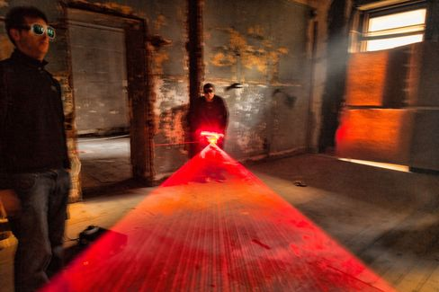 Lasers at 5 Beekman St. in 2012. Photographer: Joshua Schwimmer via Bloomberg