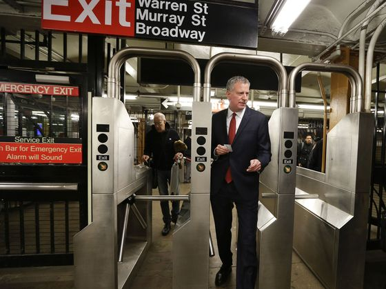 De Blasio Joins Cuomo Backing Congestion Pricing to Help MTA