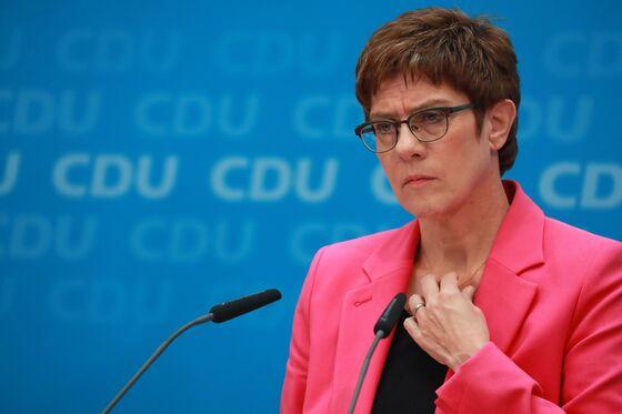 Merkel Successor's Sinking Popularity Opens Door to Challengers