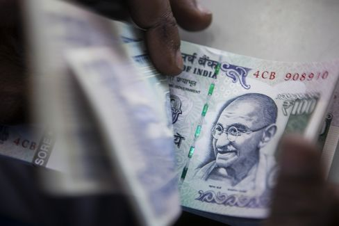 India Current-Account Gap Narrows in Boost for Singh Rupee Rally