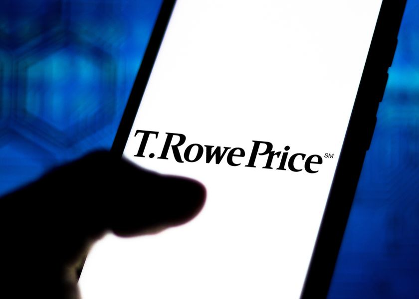 In this photo illustration the T. Rowe Price Group logo seen