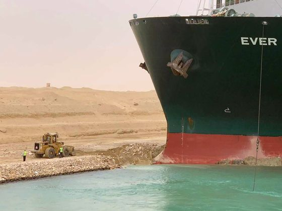 Elite Salvagers Set to Tackle Massive Ship Blocking Suez Canal