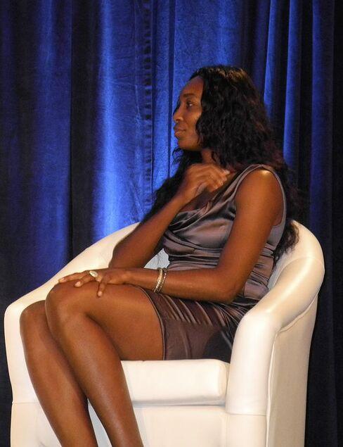 Venus Williams visits Morgan Stanley