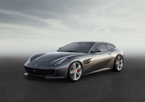 """The 2017 Ferrari GTC4Lusso, which is based on the Ferrari FF and features """"rear-steering"""" on an all-wheel-drive."""