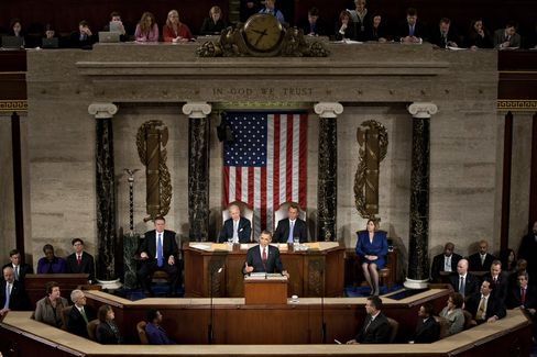 U.S. President Barack Obama Delivers The State of The Union