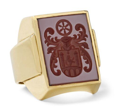 Foundwell Vintage 14-karat gold Carnelian signet ring, $3,850