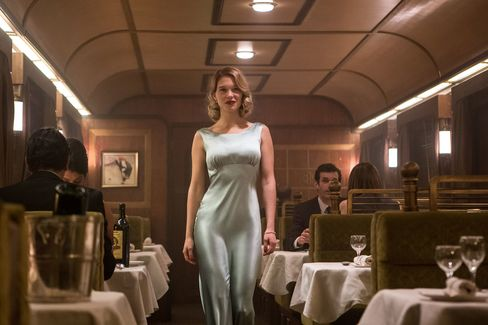 Seydoux's Swann wore a light green gown that allowed for movement during fight scenes, Temime said.