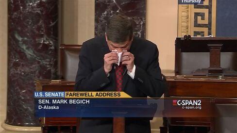 Senator Mark Begich, Alaska Democrat, is pictured on Dec. 11, 2014.
