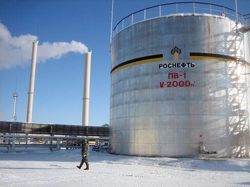 Oil Storage Tank at OAO Rosneft's Priobskoye Oil Field
