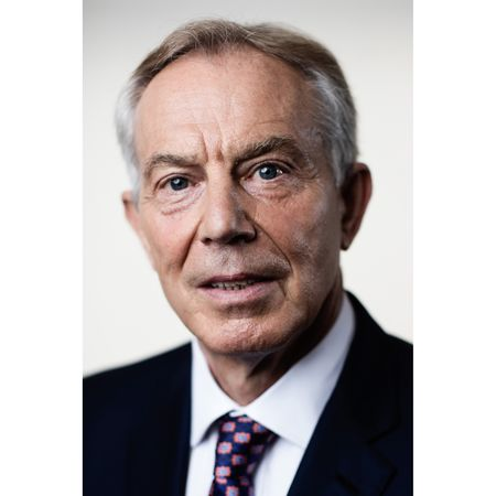 Former U.K. Prime Minister Tony Blair following a Bloomberg Television interview in London.