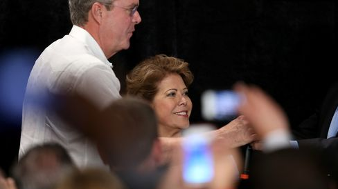 Jeb Bush Attends Reception Hosted By Right To Rise PAC