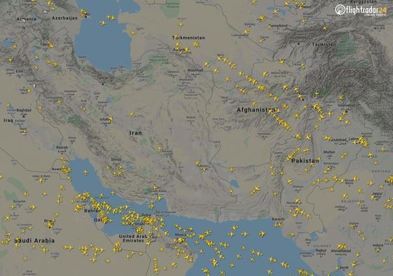 Afghanistan Benefits as Airlines Divert Through Its Airspace toAvoid Iran