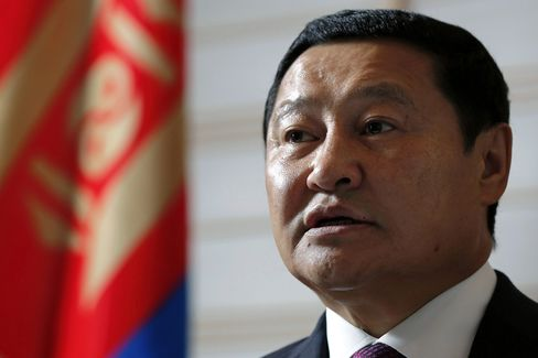 Mongolia's Prime Minister Norovyn Altankhuyag