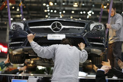 Preparations for the Geneva Motor Show