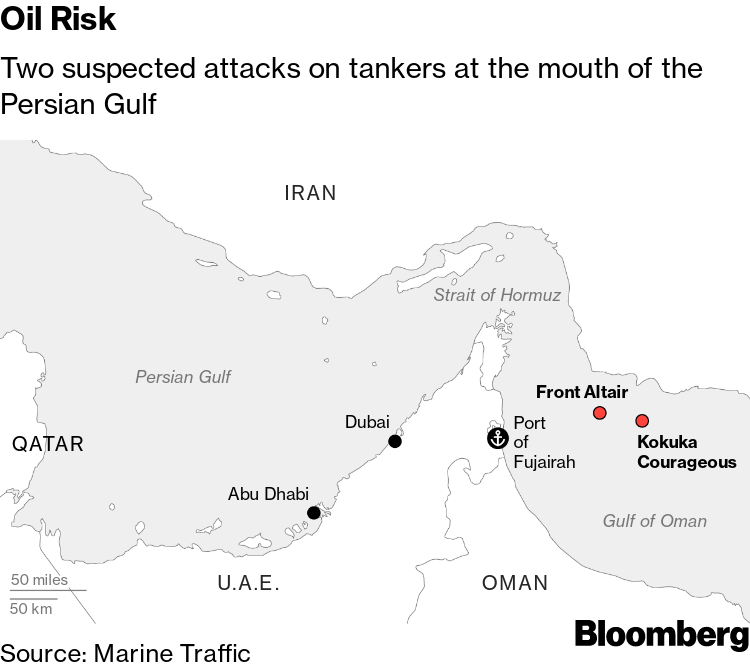 War Risk Insurance Soars for Middle East Tankers After
