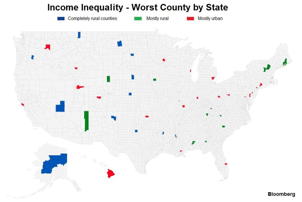 State Of Georgia Map With Counties.From Georgia To Delaware U S County Level Income Inequality