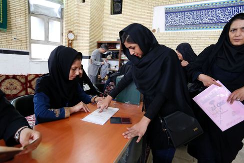 Iranians cast their ballots on April 29.
