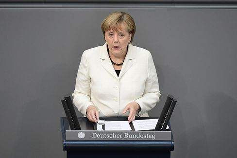 Merkel speaks on July 7.