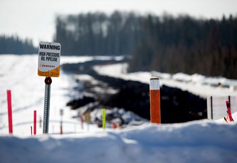 Pipeline Sits Under Construction near Fort McMurray