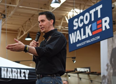 Scott Walker Makes First Stop In Las Vegas After Presidential Campaign Launch