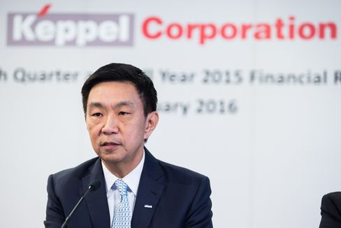 Loh Chin Hua speaks during a news conference in Singapore.