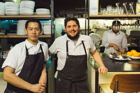 Co-chefs Jeremiah Stone and Fabian von Hauske.