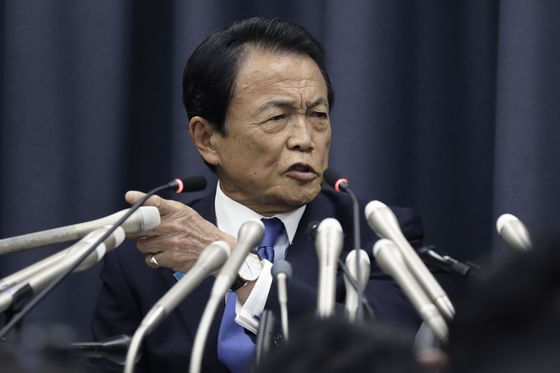 Japan's Aso Ponders Tariffs in Forced-Labor Spat With SouthKorea