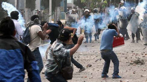 Protests in Peru