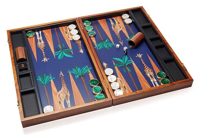 alexandra llewellyn mu0027o exclusive bespoke backgammon set - Backgammon Game
