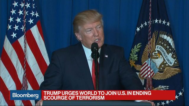 Trump Urges World to Join U.S. in Ending Terrorism