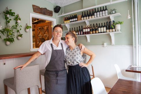 Elise Kornack and Anna Hieronimus of Take Root, in their dining room in Brooklyn.
