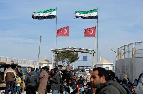 The Es-Selam Border Gate at the Turkish-Syrian border on Feb. 5