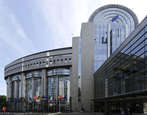 European Union Parliament Complex in Brussels