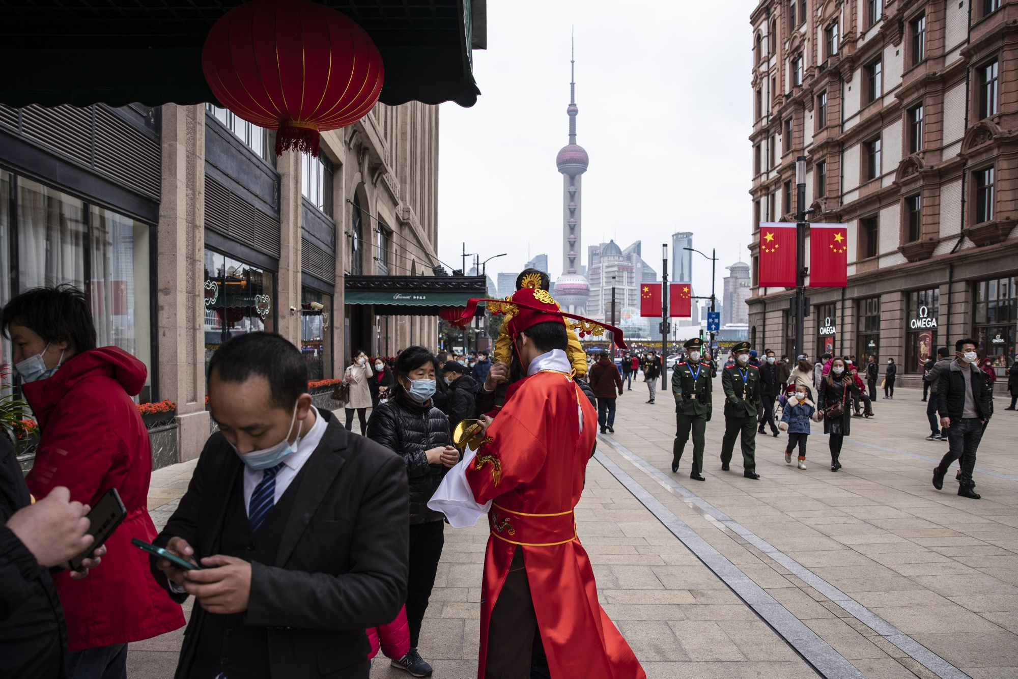 Urban Retail Economy In Shanghai on the First Day Of Lunar New Year
