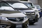Honda Motor Co. Vehicles As Carmaker Reports Earnings