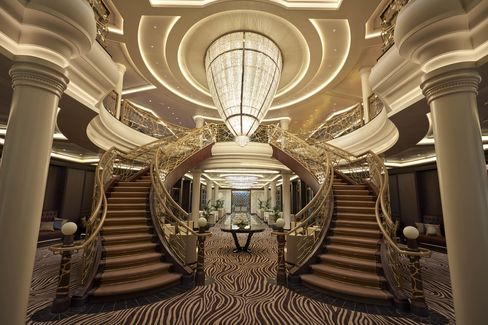 The grand lobby of the Explorer.