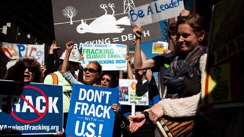 Anti-Fracking Demonstrators in NY