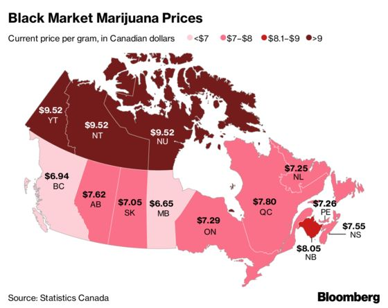 How Much Per Gram? A Tour of Canadian Pot Prices on Day 1