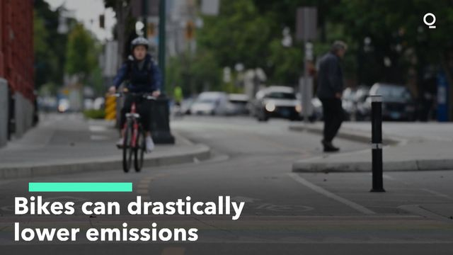 Bikes Can Drastically Lower Emissions