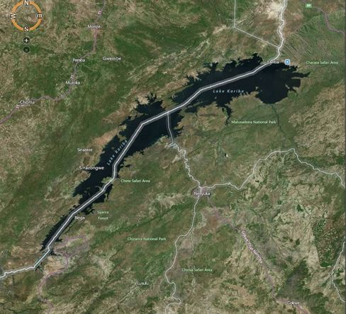 MAP: Kariba Dam, the biggest man-made reservoir and a source of hydropower for Zambia, has cut output due to drought
