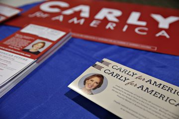 GOP presidential candidate carly fiorina speaks at the quad cities new ideas forum & rotary club of north scott