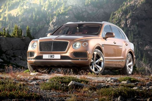 The show color of the Bentayga is a kind of kodachrome hue that evokes nostalgia for times past.