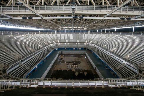 2016年リオデジャネイロ五輪・パラリンピックの水泳会場(2017年5月27日撮影)