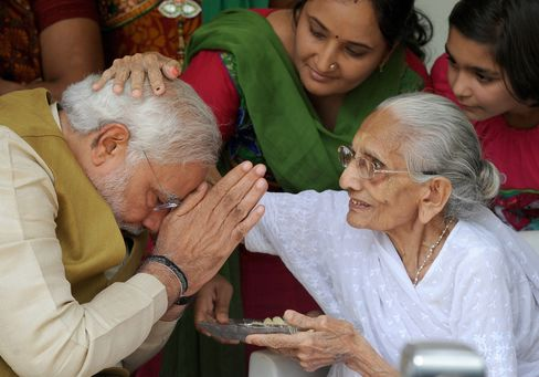 BJP's Modi With His Mother