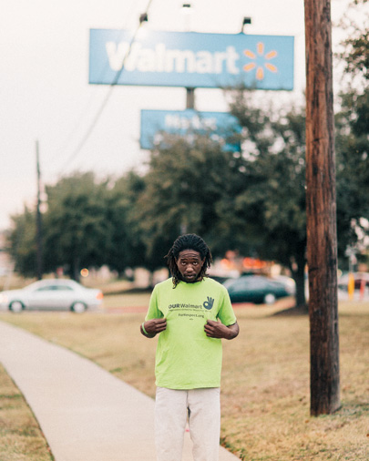 OUR Walmart member Colby Harris in Texas