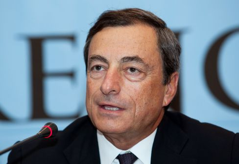 Mario Draghi, chairman of the Financial Stability Board